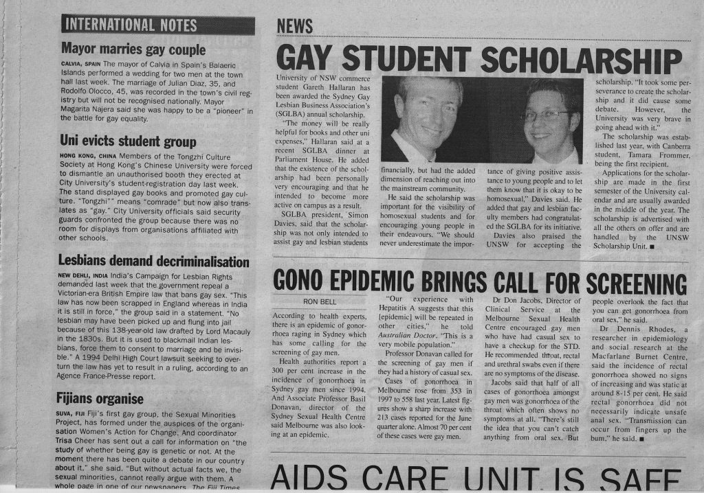 scholarship for gay student