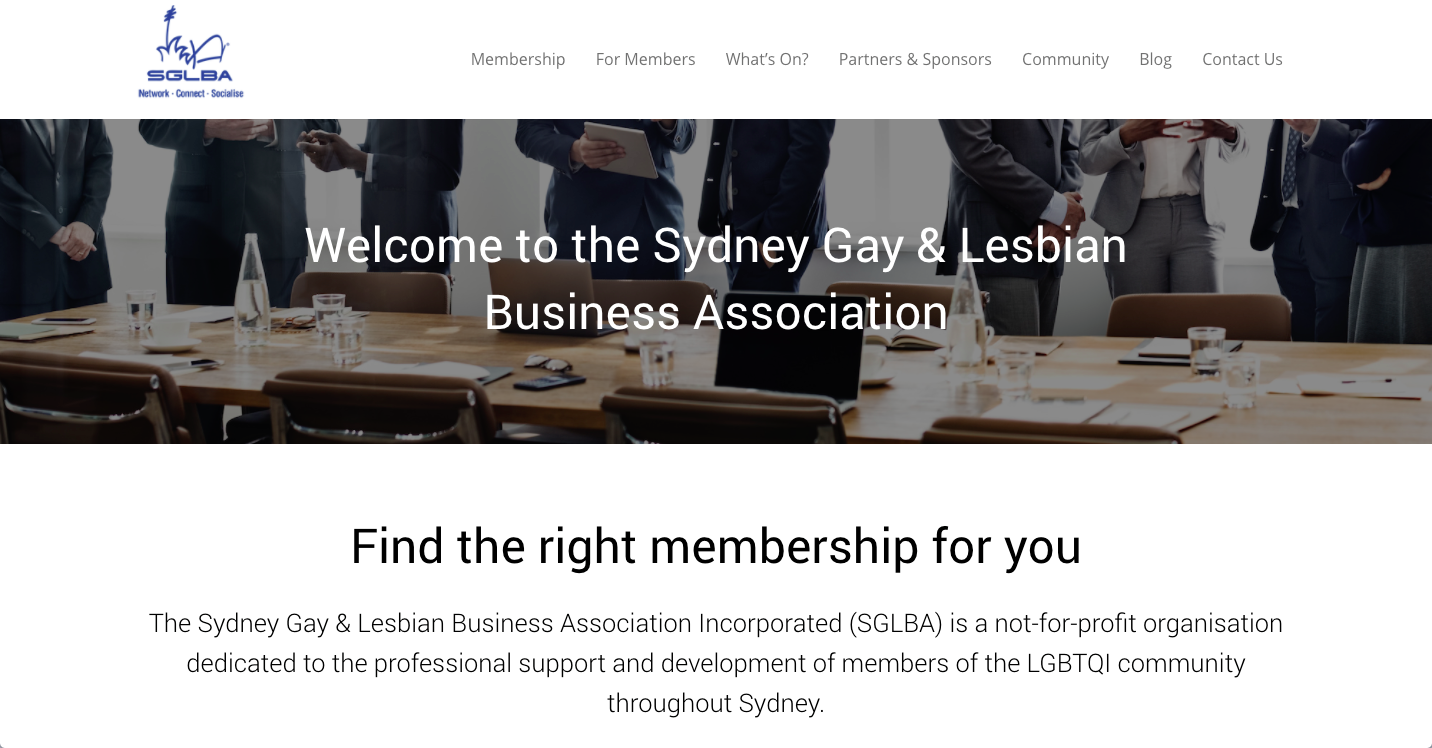 SGLBA Home Page Website Launch