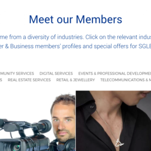 SGLBA Meet Our Members Page Website Launch