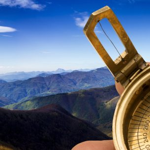 compass in the mountains