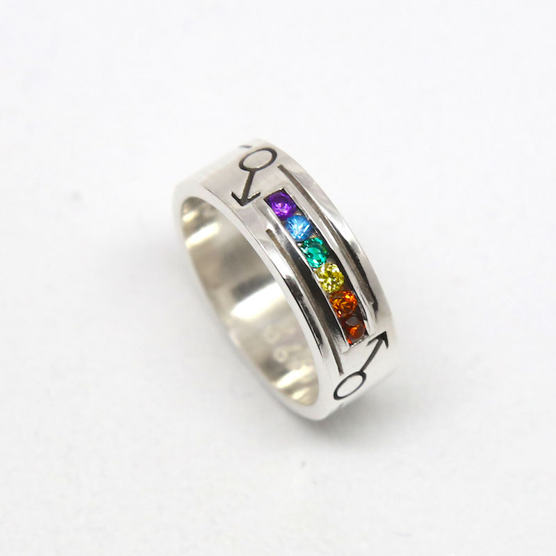SQUARE Michele Jewellery Rainbow Ring