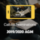 Call for Nominations 2020 AGM
