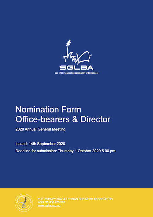2020 Nomination Form AGM